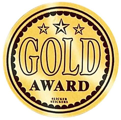 Student Desk Labels Gold Award Stickers Merit Solutions