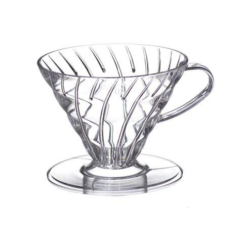 Hario V60 Plastic Dripper Size 02 Transparant hario v60 coffee dripper size 02 prima coffee