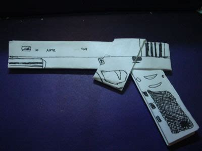 Easy Origami Gun - origami gun photos
