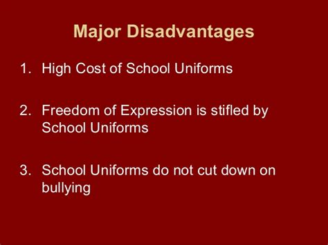 Disadvantages Of Wearing School Essay by Disadvantages Of School Uniforms My
