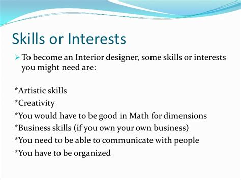 what qualifications do you need to become an interior