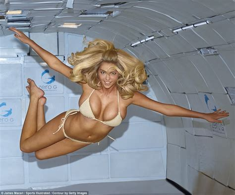 Micro Tiny House by Kate Upton Poses In Zero Gravity Conditions Wearing Tiny