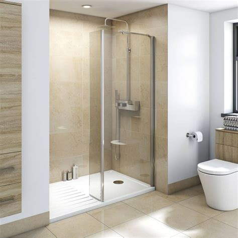 bathroom shower enclosures ideas mode luxury 8mm wet room glass panel 700mm plumbing and