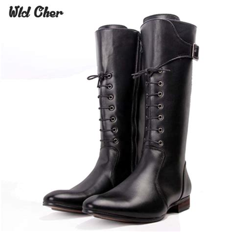 black lace up motorcycle boots 2017 lace up high boots mens black military boots natural