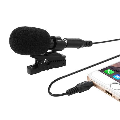iphone microphone external clip on lapel lavalier microphone for iphone smartphone recording th426 ebay