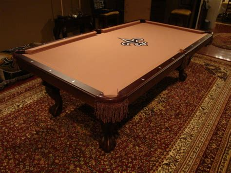 new orleans saints pool table w e m distributors included w each new pool table