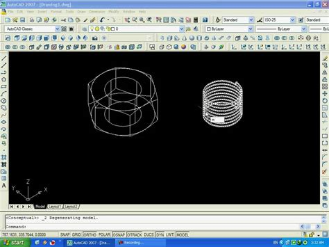 video tutorial autocad 2007 3d autocad 2007 3d how to draw a nut كيف ترسم صامولة على
