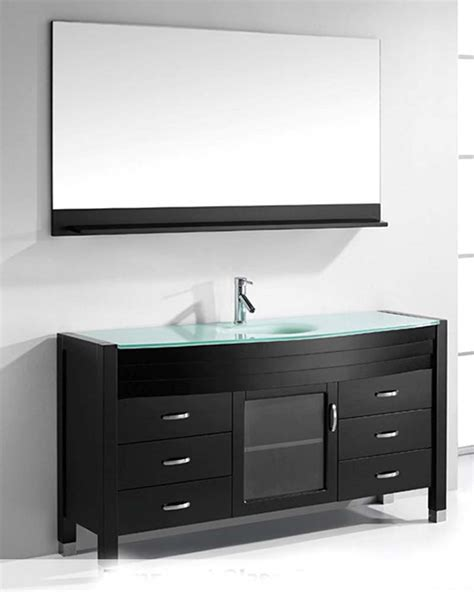 ava bathroom furniture ava 61in single bathroom set in espresso by virtu usa vu