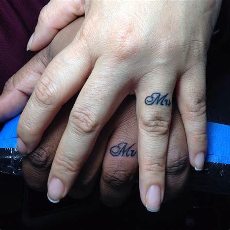 20 matching wedding ring tattoos