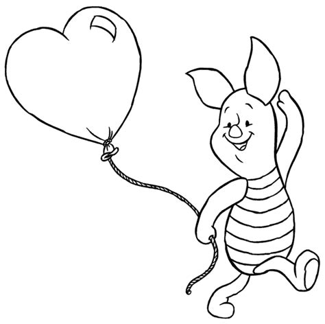 pimpi con palloncino cuore disegni da colorare e
