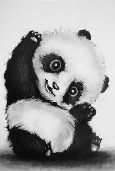 tekening panda van cynthia jansen op canvas behang en meer