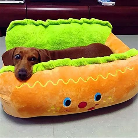 hot dog dog bed hot dog shape pet sofa bed for cats and dogs myboothang