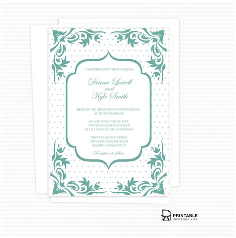 printable invitation kits com boho dots wedding invitation pdf wedding invitation