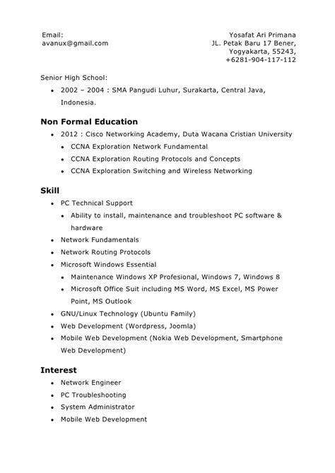 format email formal indonesia cv yosafat ari primana