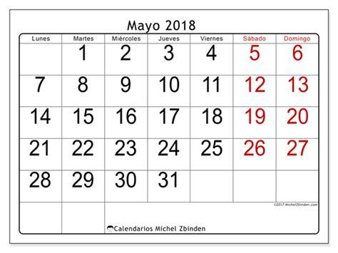 Calendario 2018 Mayo Calendario Para Imprimir Mayo 2018 Emericus Espa 241 A