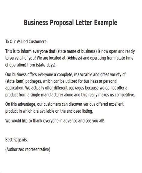 business letter exle news sle new business letters 6 exles in word pdf