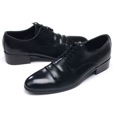 black dress shoes mens chic toe wrinkles lace up shoes