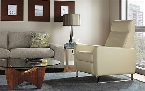 room and board recliner dalton leather chair room by r b modern living room other metro by room board