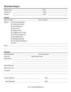 Detention Slips Template by This Detailed Detention Slip Lists Behavior Incident