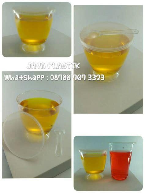 Cup Puding Bening jual cup puding bening berkaki jaya plastik