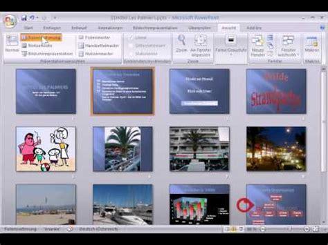 tutorial powerpoint deutsch powerpoint pr 228 sentation tutorial deutsch ansichten youtube