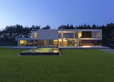 house architects minimal modern house in poland modern design by