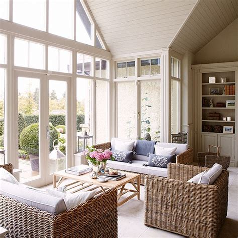 country homes and interiors uk inspired by conservatories wicker furniture country