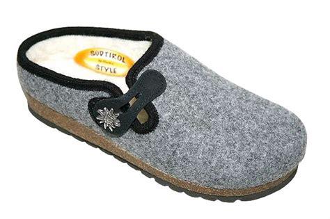 Handmade Slippers - handmade tyrolean slippers gardena model grey