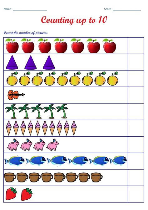 Printable Worksheets Counting To 10 | kindergarten worksheets counting worksheets count the