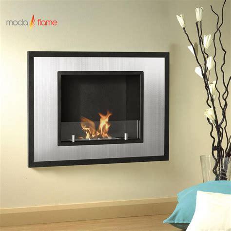 moda wall mounted ethanol fireplace