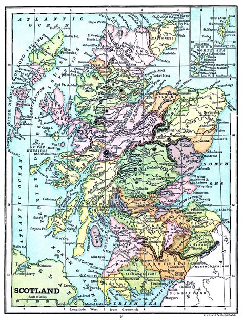 instant printable map of scotland the graphics
