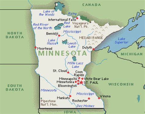 us map minnesota minnesota state map