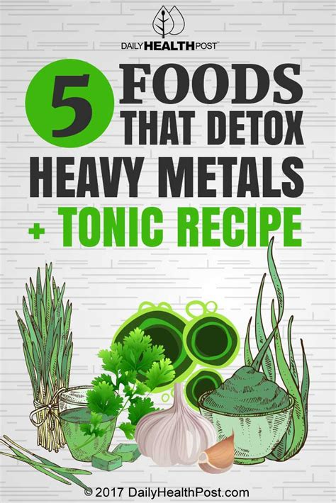 Best Foods For Detoxing Heavy Metals by 5 Foods That Detox Heavy Metals Tonic Recipe