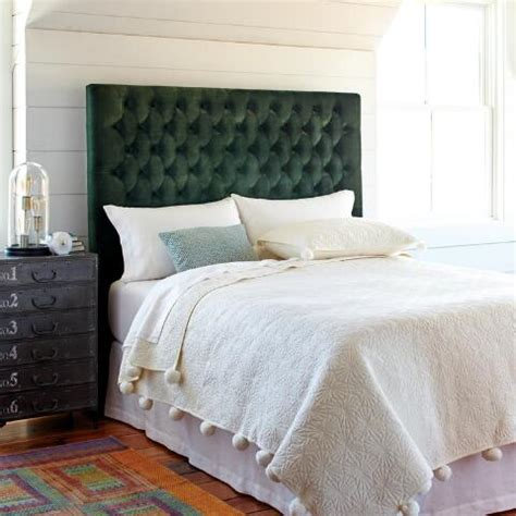 green tufted headboard forest green jaelyn tufted queen headboard world market