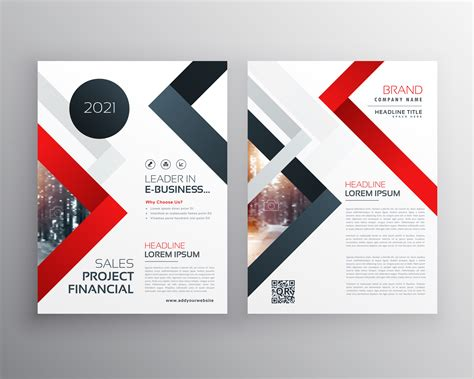 Modern Business Brochure Flyer Template Design Download Free Vector Art Stock Graphics Images Template Design