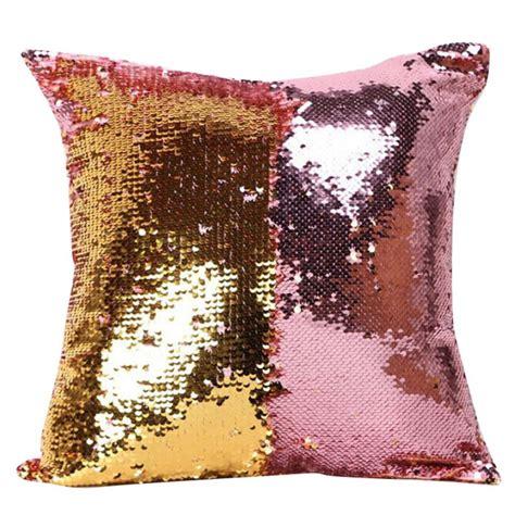kissen und decken reversible sequin mermaid glitter sofa cushion cover