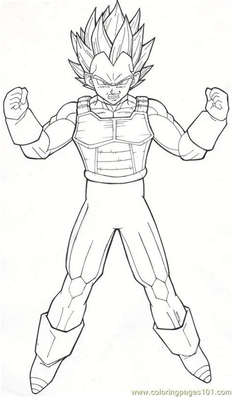 coloring pages vegeta m89 by moncho m89 cartoons gt vegeta