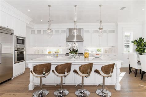 White Kitchen Island With Bar Stools by 37 Large Kitchen Islands With Seating Pictures