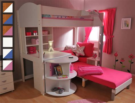 stompa high sleeper with futon stompa casa 4 high sleeper bed