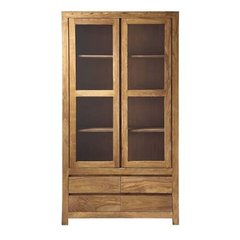 solid wood bookshelves solid sheesham wood bookcase w 110cm stockholm maisons