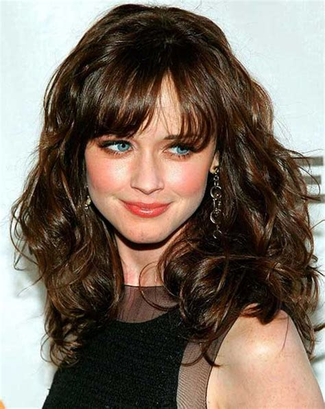 curly hair  bangs hairstyles haircuts