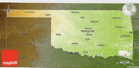 geographical map of oklahoma physical 3d map of oklahoma darken