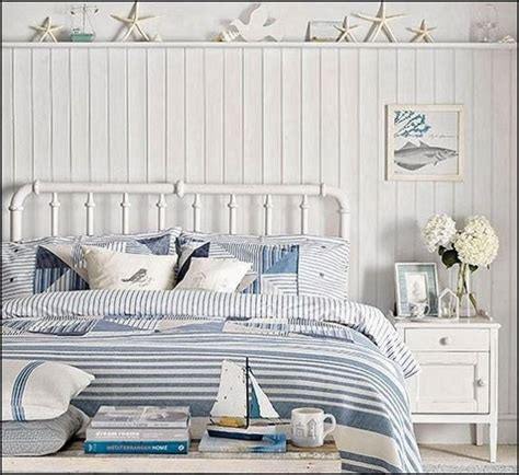 navy blue coastal bedroom design with glossy navy blue beach house decorating nautical beach home interiors