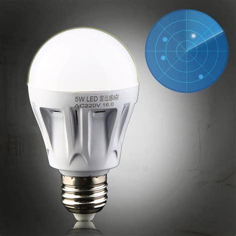Outdoor Sensor Light Bulbs 5w E27 Led Outdoor Light Pir Motion Sensor Detection L Warm White Bulb Ebay
