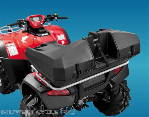atv carrier seat quadboss weekender trunk atv luggage with seat gas can