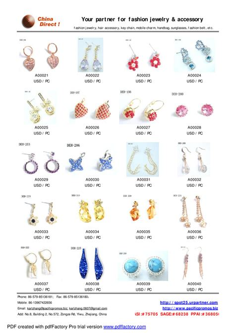 Jewelry Catalog by Our Jewelry Catalog Sle