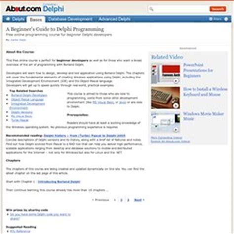 delphi language tutorial pdf delphi programming pearltrees