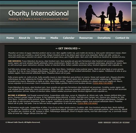Charity Website Template Charitable Organization Web Template Non Profit Charity Template Charity Website Templates