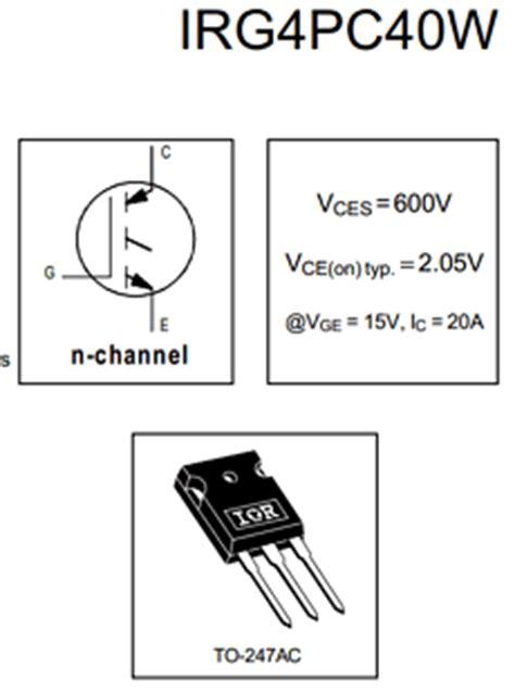 transistor g4pc40w g4pc40w datasheet g4pc40w pdf pinouts circuit international rectifier