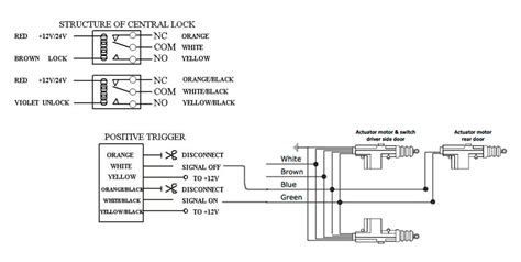 5 wire door lock diagram door free printable